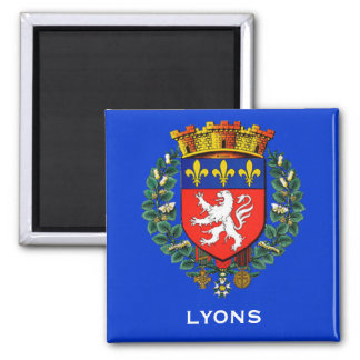 Lyon France Coat of Arms Magnet