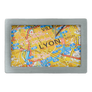 Lyon, France Rectangular Belt Buckle