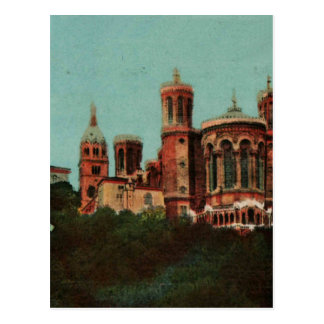 Lyon Notre dame de Fourviere Replica 1930s Postcard