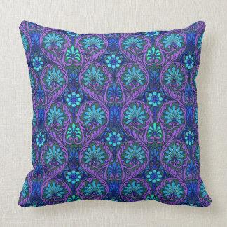 Lyon Purple Throw Pillow