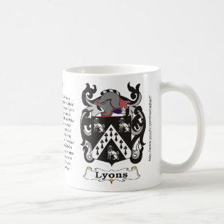 Lyons Family Coat of Arm mug