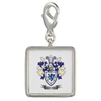 Lyons Family Crest Coat of Arms Charm