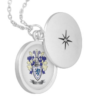 Lyons Family Crest Coat of Arms Locket Necklace