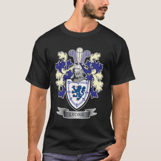 Lyons Family Crest Coat of Arms T-Shirt