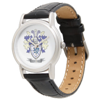 Lyons Family Crest Coat of Arms Watch