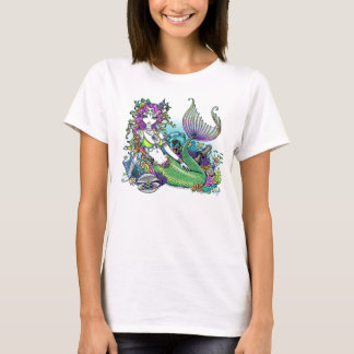 """Lyra"" Tropical Rainbow Mermaid Art Tank Top"