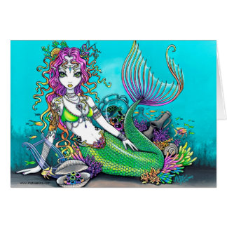 Lyra Tropical Rainbow Mermaid Card
