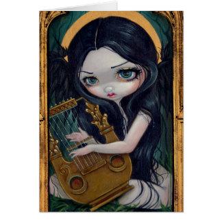 """Lyre Angel"" Greeting Card"