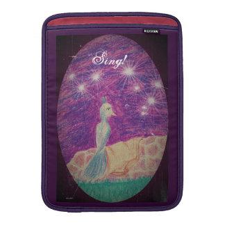 Lyric Fantasy Nightingale Choose Background Color MacBook Air Sleeve
