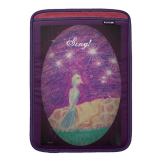 Lyric Fantasy Nightingale Choose Background Color MacBook Sleeve