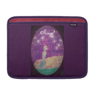 Lyric Fantasy Nightingale Choose Background Color MacBook Sleeves
