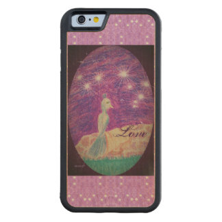 Lyric Fantasy Nightingale Starry Background Carved Maple iPhone 6 Bumper Case