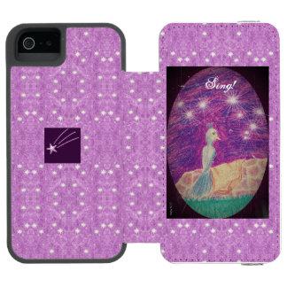 Lyric Fantasy Nightingale Starry Background Incipio Watson™ iPhone 5 Wallet Case