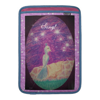 Lyric Fantasy Nightingale Starry Background Sleeve For MacBook Air
