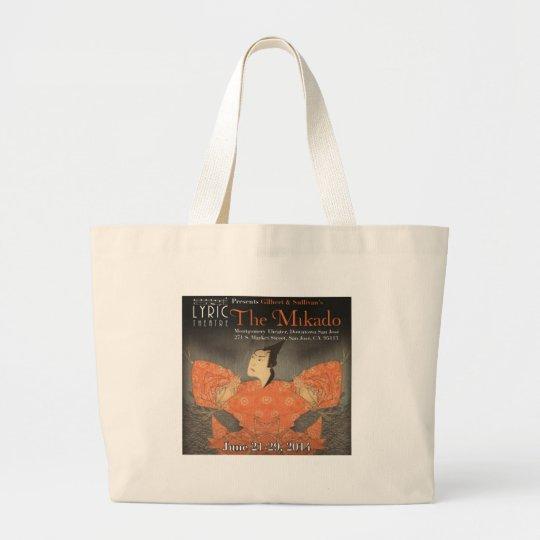 Lyric Theatre -- Mikado 2014 Large Tote Bag