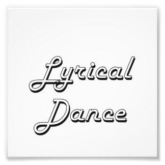 Lyrical Dance Classic Retro Design Photographic Print