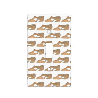 Lyrical Tan Modern Dance Teacher Shoe Print Light Switch Cover