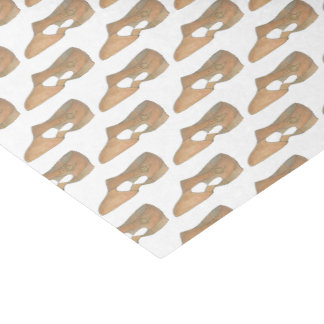 Lyrical Tan Modern Dance Teacher Shoe Print Tissue Paper
