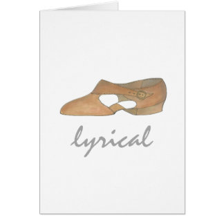 Lyrical Tan Modern Dance Teacher Shoe Recital Gift Card