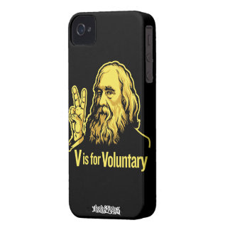 Lysander Spooner V is for Voluntary iPhone 4/4S Ca iPhone 4 Case-Mate Case