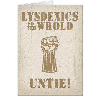 Lysdexics fo teh Wrold Card