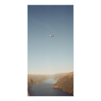 Lysefjord, Norway Customized Photo Card