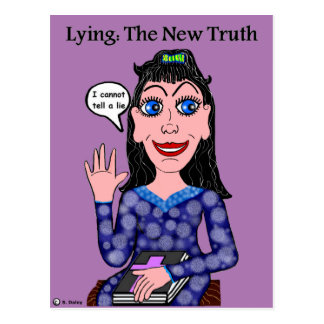 Lyza is Lying: The New Truth Postcard