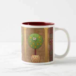 M009 Partridge in a Pear Tree Two-Tone Coffee Mug