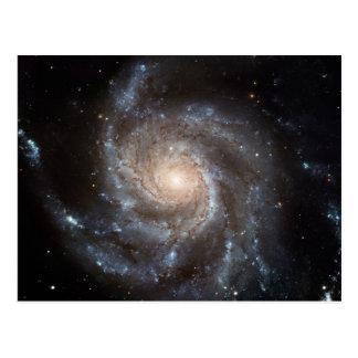 M101 Pinwheel Spiral Galaxy NASA Postcard