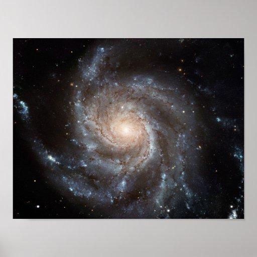 M101 Pinwheel Spiral Galaxy NASA Poster