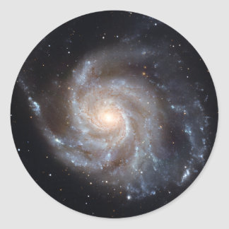 M101 The Pinwheel Galaxy (NGC 4547) Classic Round Sticker