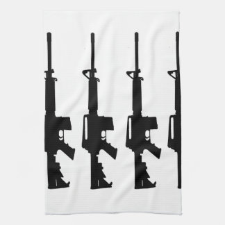 m16 black and white towel