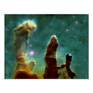 M16 Eagle Nebula or Pillars of Creation Poster