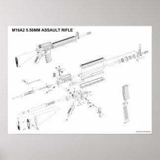 M16A2 5.56mm Assault Rifle Poster