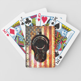 M1911 Colt 45 On Rusted American Flag Bicycle Playing Cards