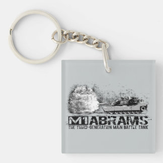 M1 Abrams Square (double-sided) Keychain