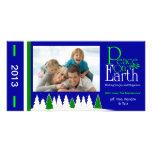 M1 Peace On Earth-Royal Holiday Xmas Photo Cards