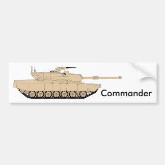 M1A1 Abrams Commander Bumper Sticker