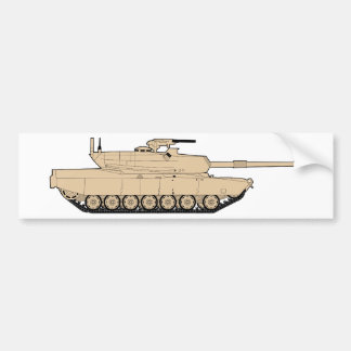 M1A1 Abrams Main Battle Tank Bumper Sticker