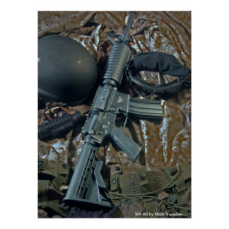 M4 All by Mark Vaughan Poster