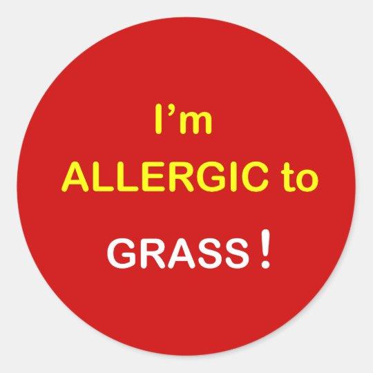 m4 - I'm Allergic - GRASS. Classic Round Sticker