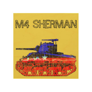 M4 Sherman Tank Wood Print