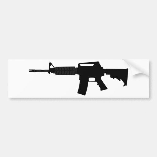 M4 Silhouette Sticker M4 silhouette bumper stickers