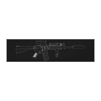 M4 SOPMOD Black Canvas Print