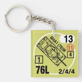 M4A1 (76)W Keychain Fob