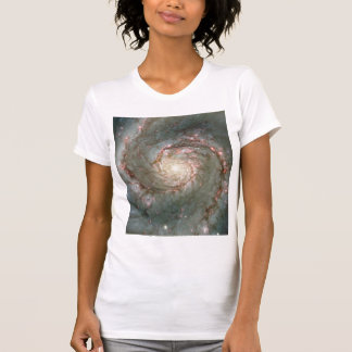 M51 Ladies Sheer V-Neck (Fitted) Astronomy gift T-Shirt