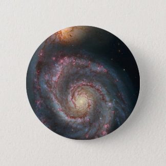 M51 Whirlpool Spiral Galaxy NASA 2 Inch Round Button