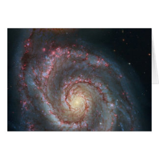 M51 Whirlpool Spiral Galaxy NASA Card