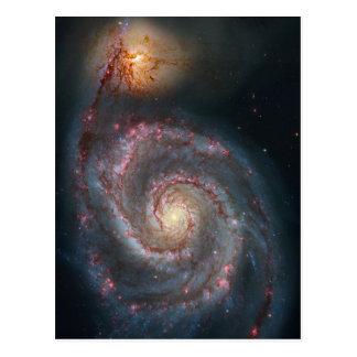 M51 Whirlpool Spiral Galaxy NASA Postcard