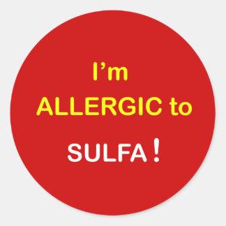 m6a - I'm Allergic - SULFA. Classic Round Sticker